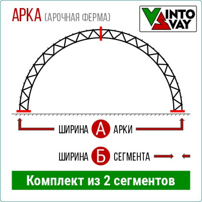 Арка для ангара шириной 5 метров ВИНТОСВАЙ